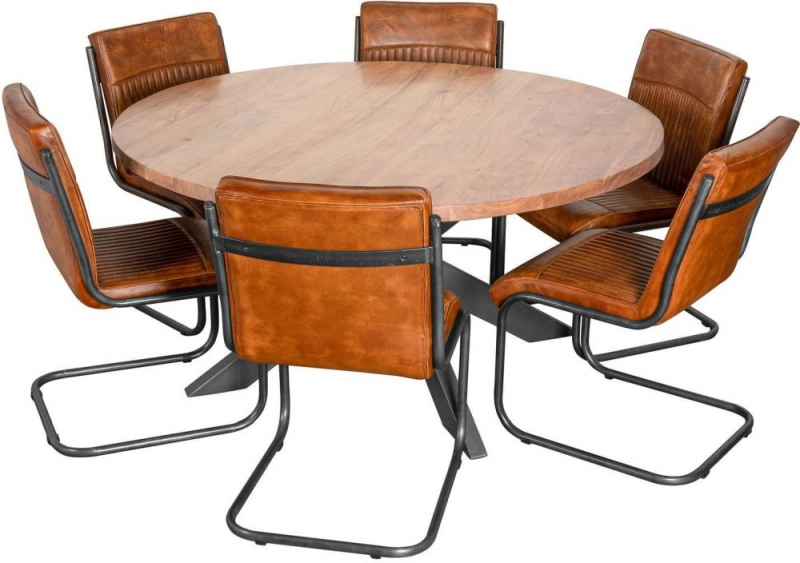 Hill Interiors Live Edge Large Round Dining Table
