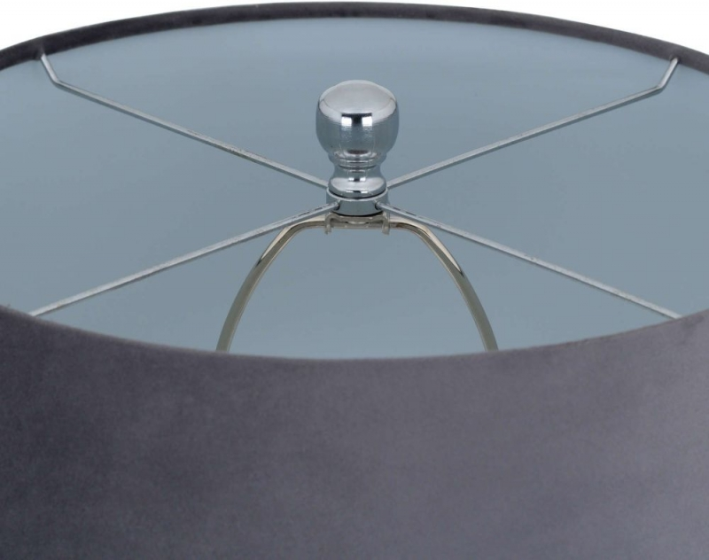 Hill Interiors Ashby Silver Glass Table Lamp
