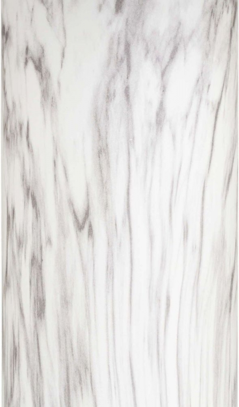 Hill Interiors Marble Effect Glass Table Lamp with Grey Velvet Shade