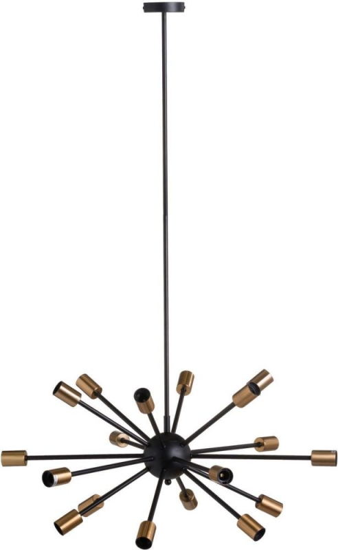 Hill Interiors Large Black and Brass Bomb Light