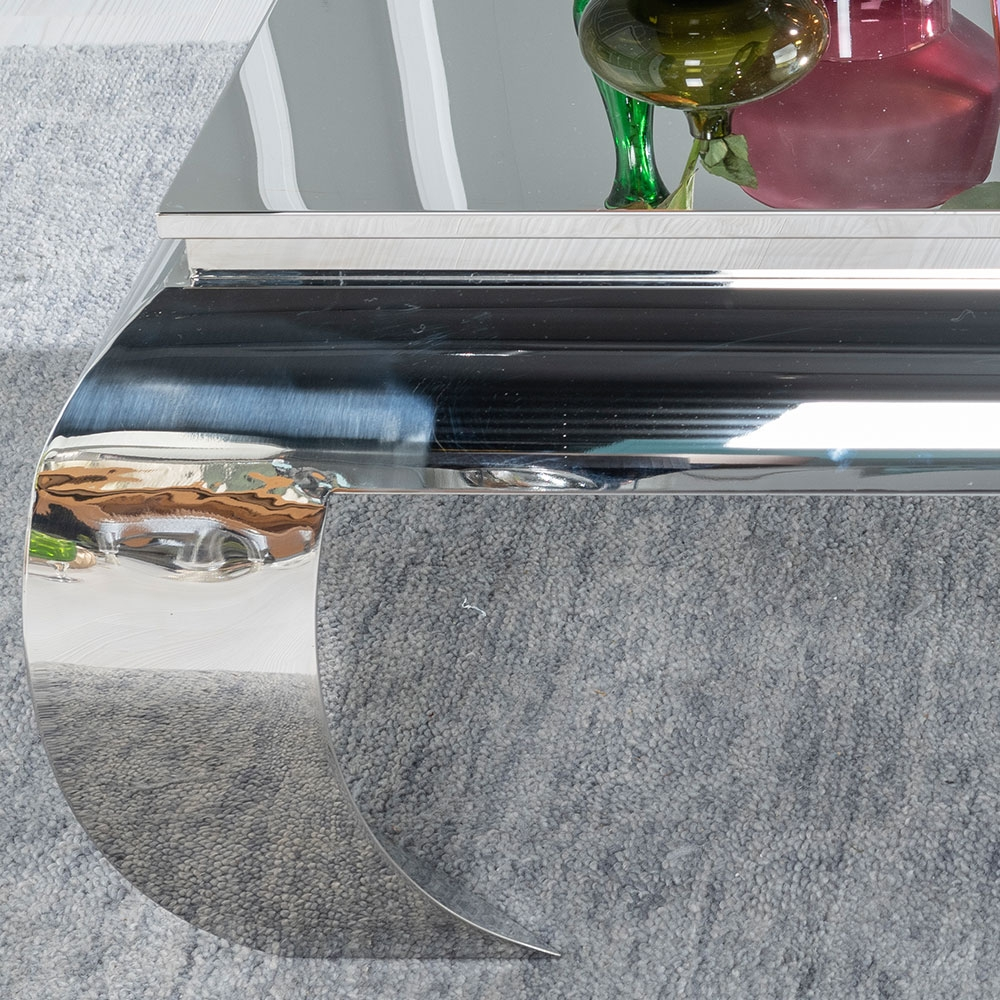 Urban Deco Opium Stainless Steel Chrome Coffee Table