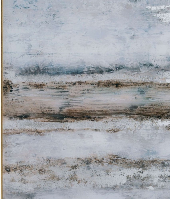 Hill Interiors Large Abstract Grey Glass Image with Silver Frame