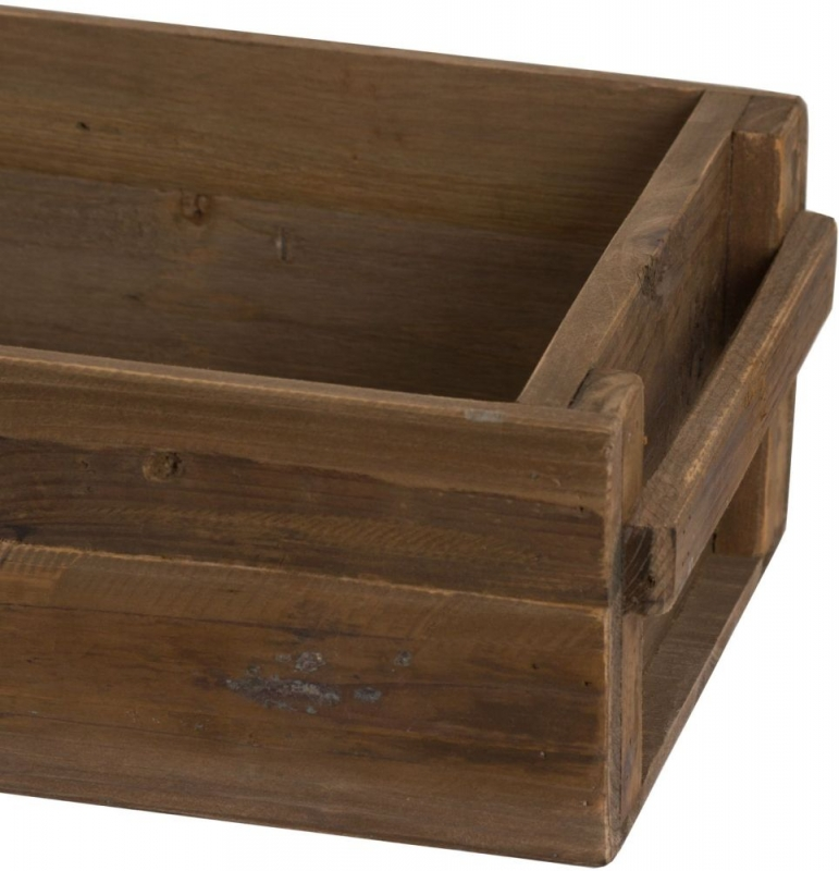 Hill Interiors Rustic Wooden Set of 3 Storage Troughs