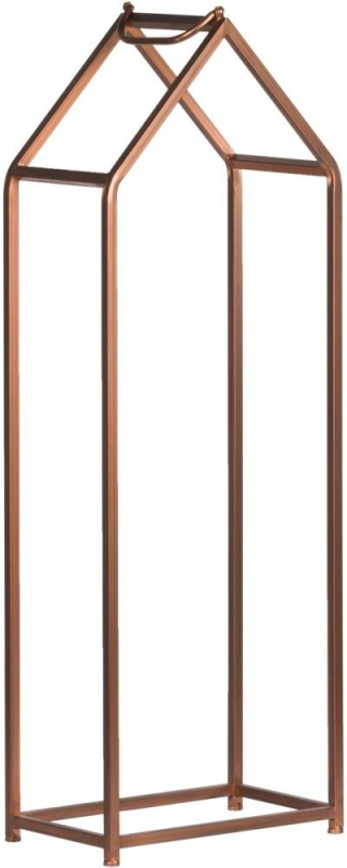 Hill Interiors Set of 2 Copper Finished Log Holders