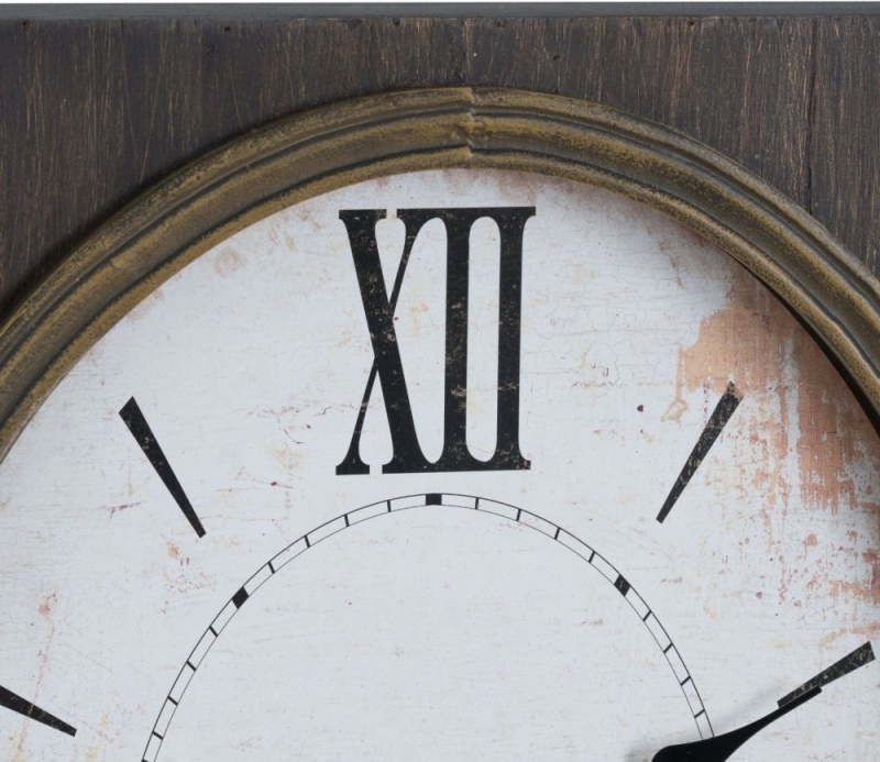 Hill Interiors Inset Oval Clock with Roman Numeral