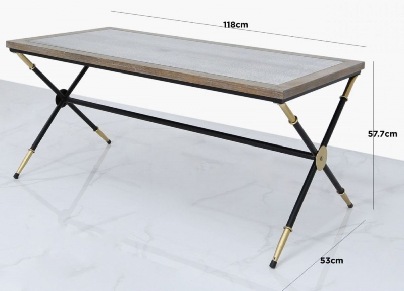 Onarga Console Table - Black and Gold Metal