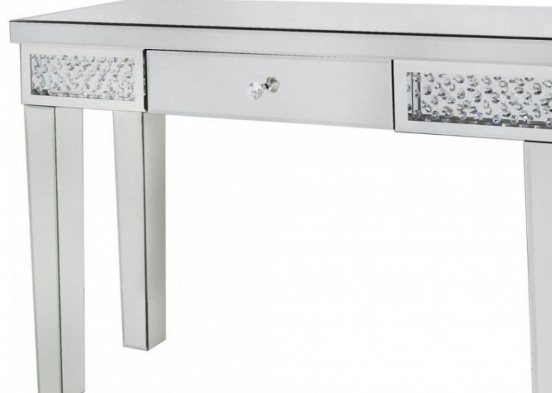 Castro Mirrored 1 Drawer Console Table