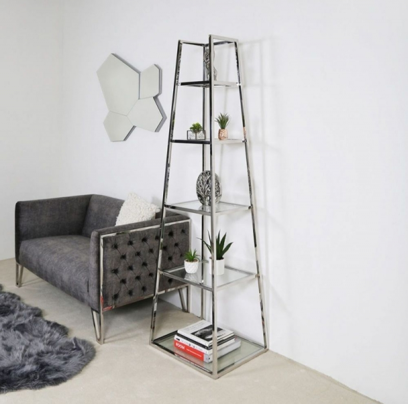Hermon Ladder Display Unit - Glass and Metal