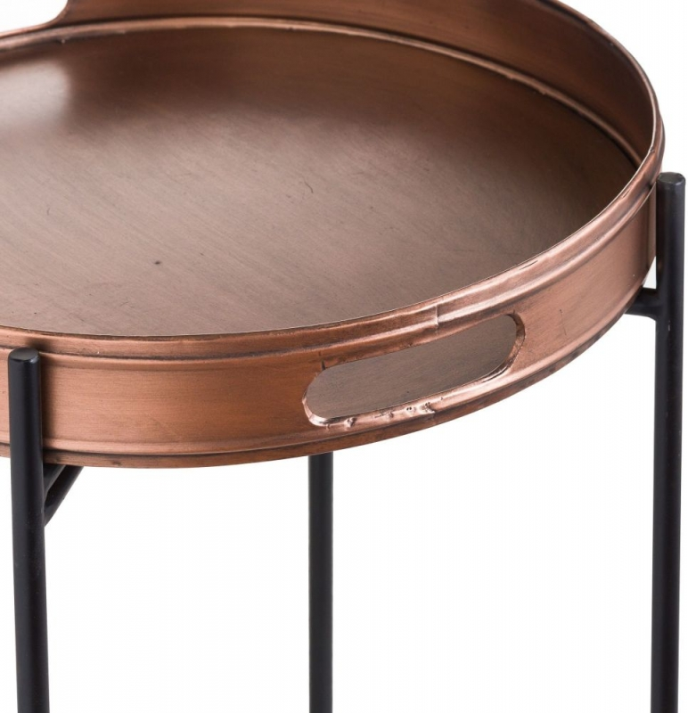 Hill Interiors Tall Copper Tray with Stand