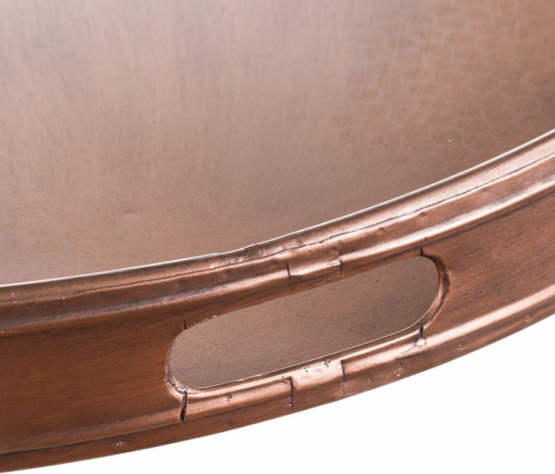 Hill Interiors Copper Tray with Stand