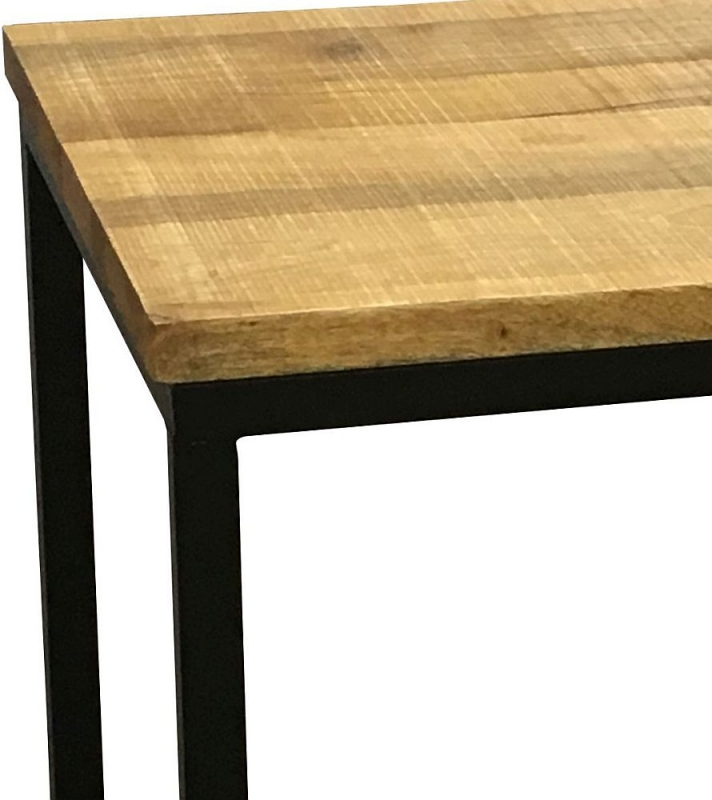 Jaipur Industrial Side Table - Mango Wood and Iron