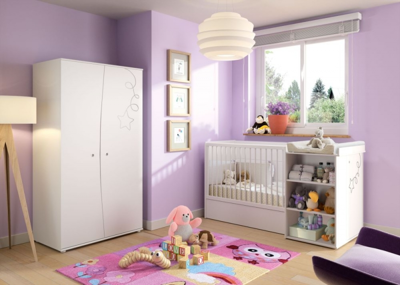 Gami Adele White Foil 2 Door Wardrobe