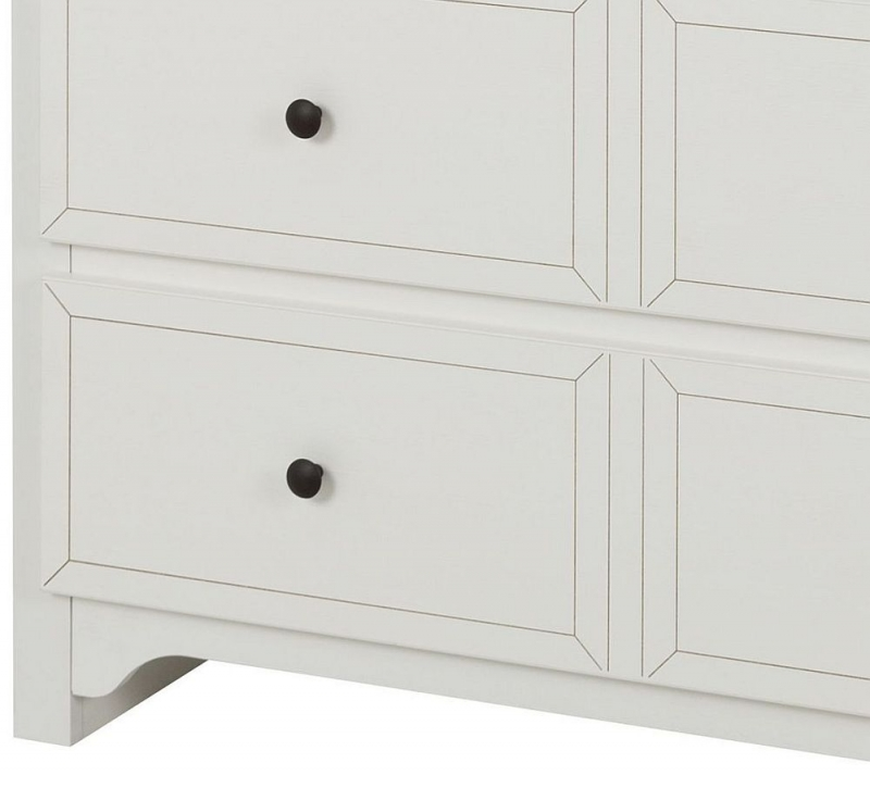 Gami Charlotte Veined White 3 Drawer Chest with Changing Table and Bookcase
