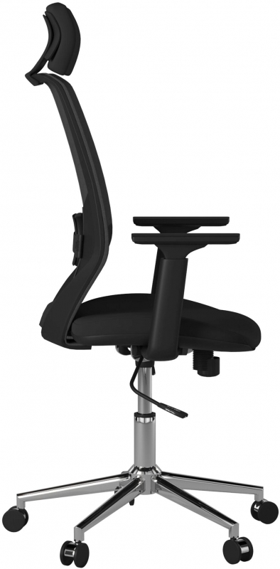 Alphason Clifton Black Mesh Fabric Office Chair - AOC1299BLK