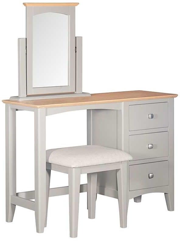 Lowell Oak and Grey Painted Dressing Table