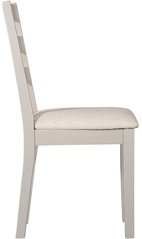 Lowell Grey Painted Ladder Back Dining Chair (Pair)