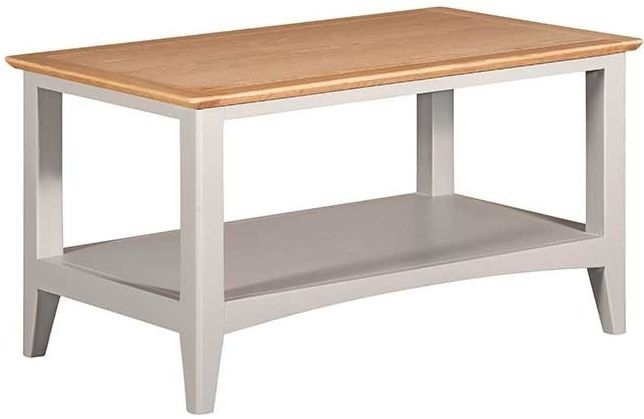 Lowell Oak and Grey Painted Coffee Table