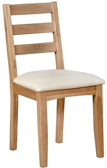 Lowell Natural Oak Ladder Back Dining (Pair)