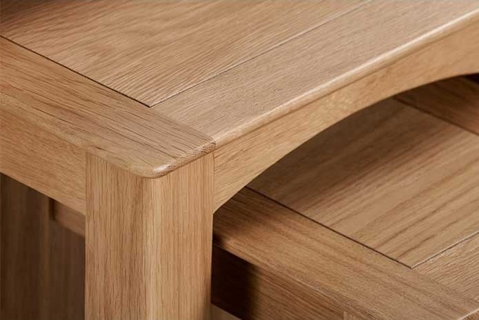 Lowell Natural Oak Nest of 3 Tables