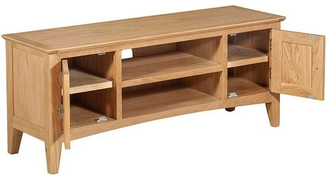 Lowell Natural Oak Large TV Unit