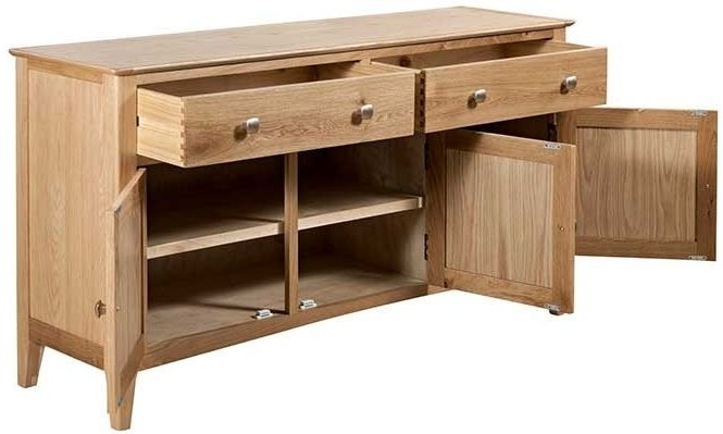 Lowell Natural Oak 3 Door Sideboard