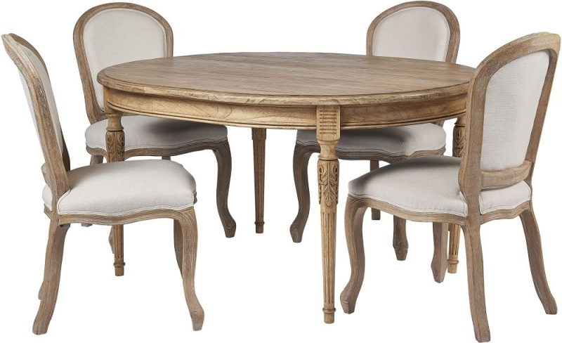 Frisco Callimont Teak Wood Oval Dining Table
