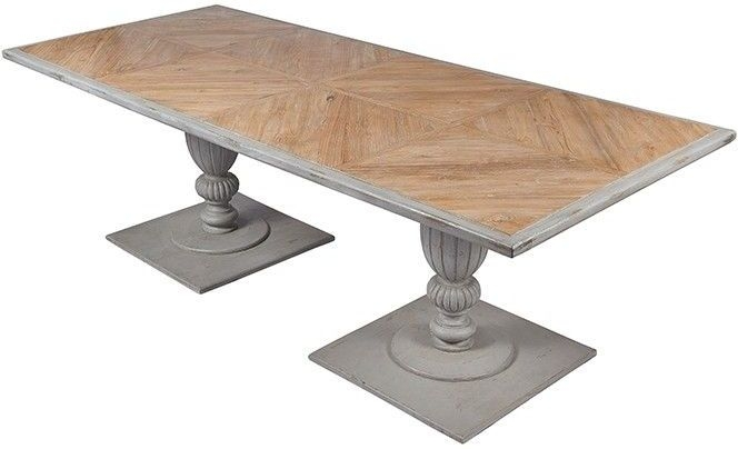 Frisco Atka Twin Pedestal 240cm Dining Table