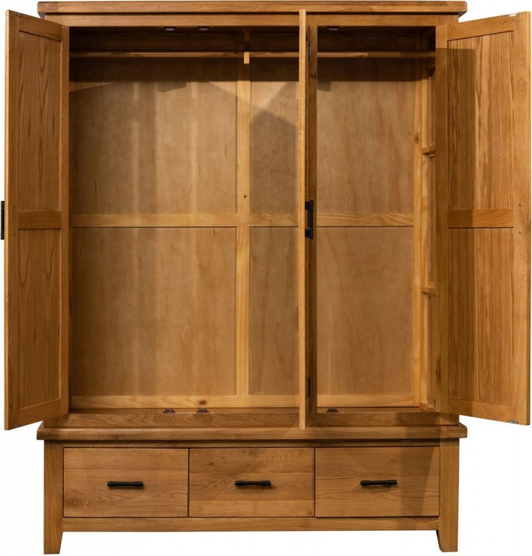 Sweet Dreams Lawrence Oak 3 Door Wardrobe