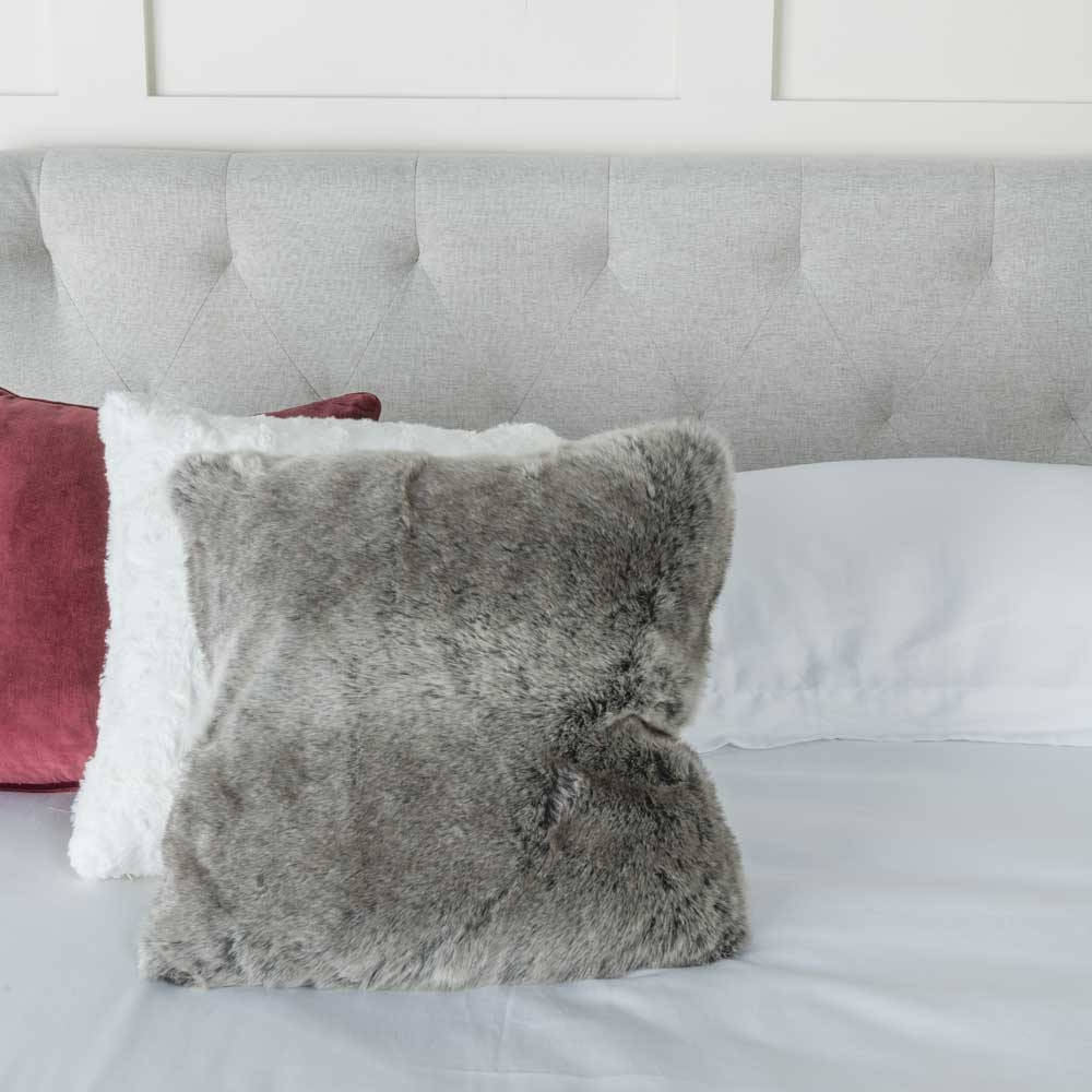 Urban Deco Palma Light Grey Fabric 5ft King Size Bed
