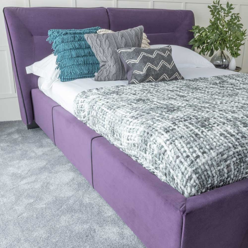 Urban Deco Simba Purple Velvet 5ft King Size Bed