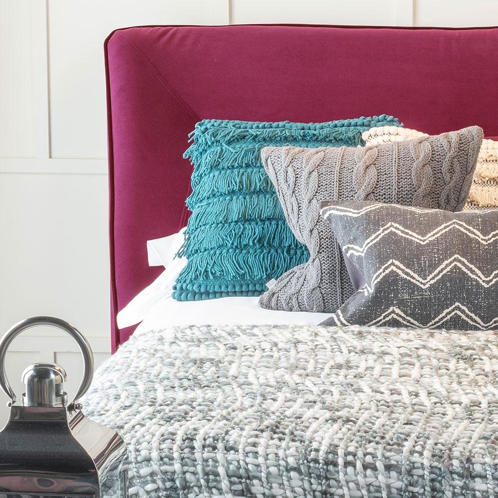 Urban Deco Simba Red Velvet 5ft King Size Bed