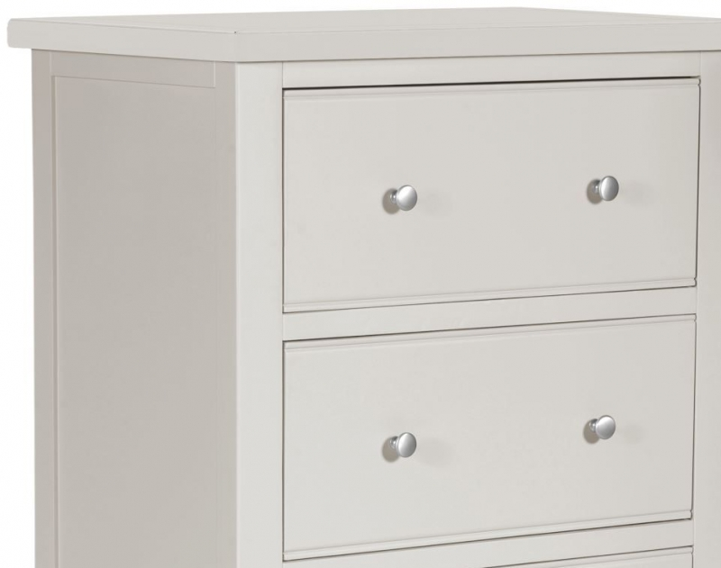Berkeley Grey Painted 4 Drawer Tall Chest