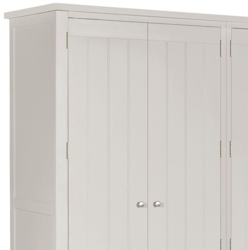 Berkeley Grey Painted 4 Door 5 Drawer Wardrobe