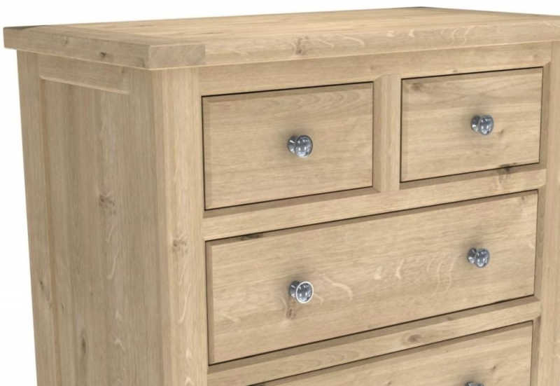 Bretagne Oak 2+3 Drawer Chest