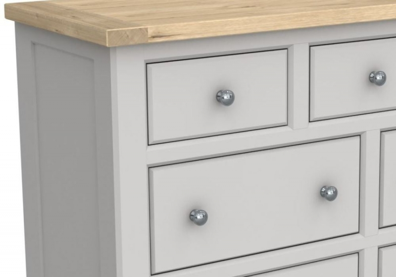 Bretagne Painted 7 Drawer Wide Chest