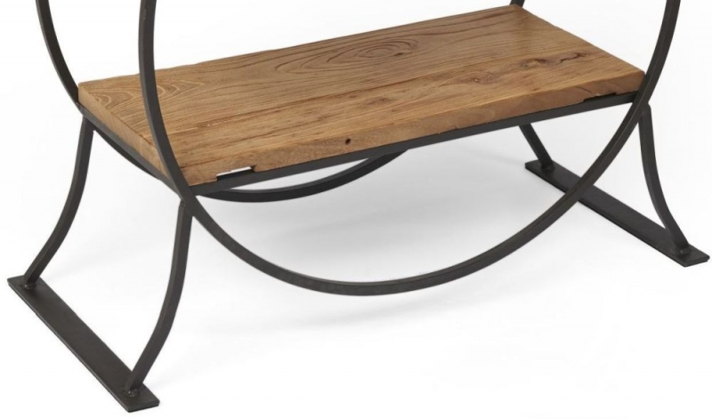 Boston Reclaimed Wood Console Table with Shelves
