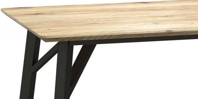 Delta Light Wood and Metal 120cm Dining Table