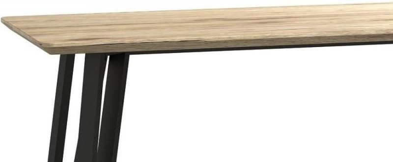 Delta Light Wood and Metal Bar Table
