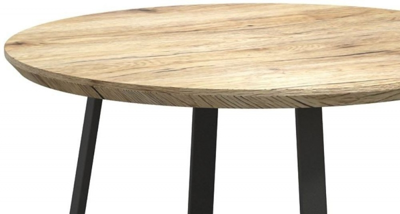 Delta Light Wood and Metal Round Wine Table