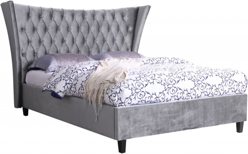 Sweet Dreams Parker Elegant Pewter Velvet Bed