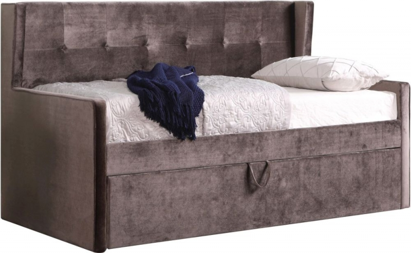 Sweet Dreams Lucas 3ft Single Mink Fabric Bed