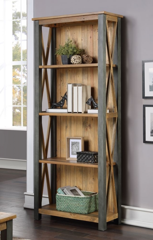 Bamhaus Urban Elegance Reclaimed Wood Tall Bookcase