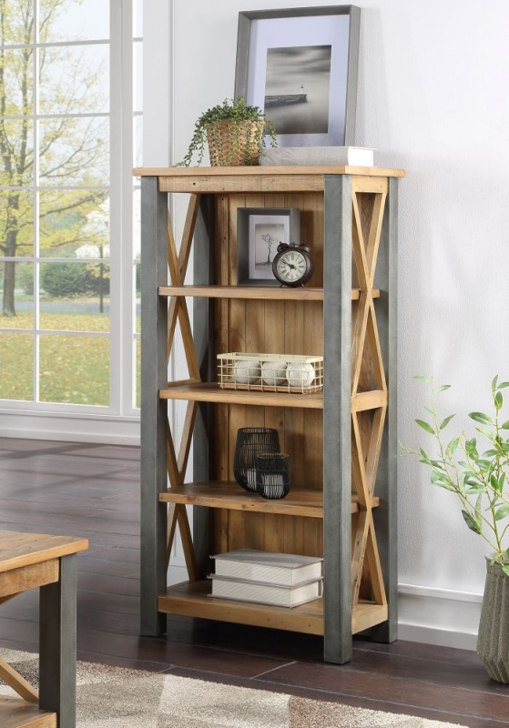 Bamhaus Urban Elegance Reclaimed Wood Small Bookcase