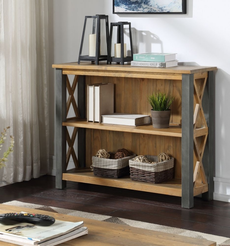 Bamhaus Urban Elegance Reclaimed Wood Low Bookcase