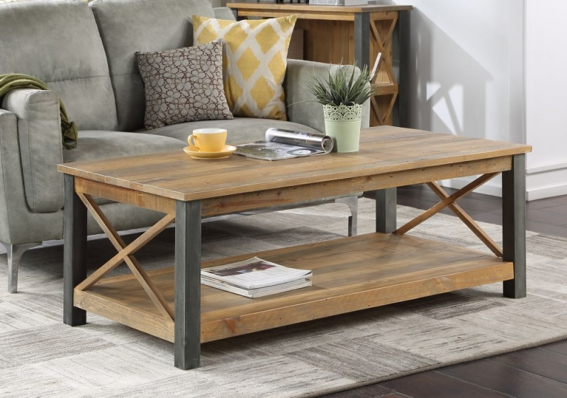 Bamhaus Urban Elegance Reclaimed Wood Large Coffee Table