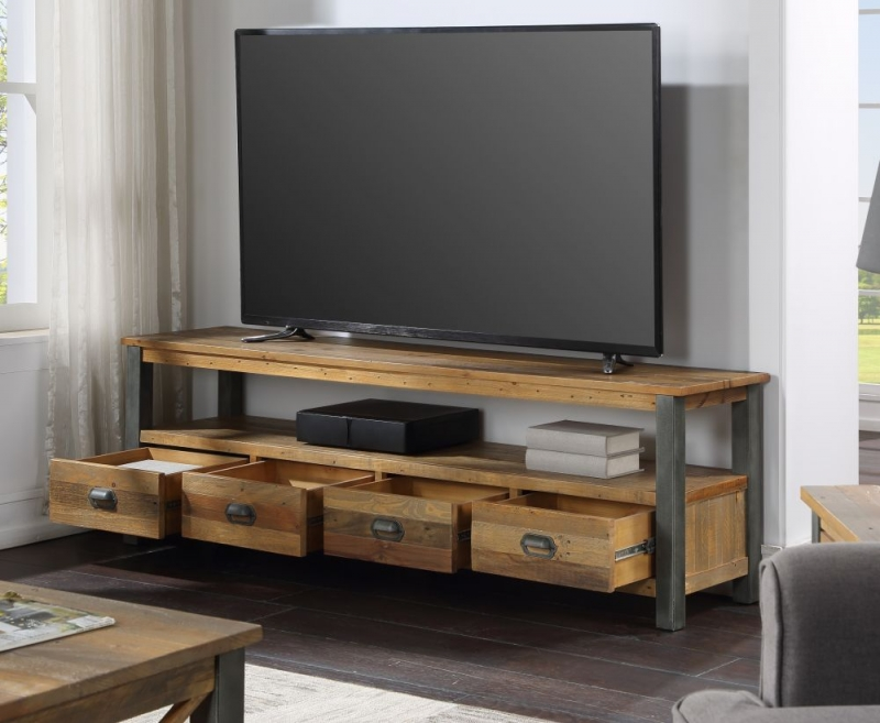 Baumhaus Urban Elegance Reclaimed Wood Large Widescreen TV Cabinet