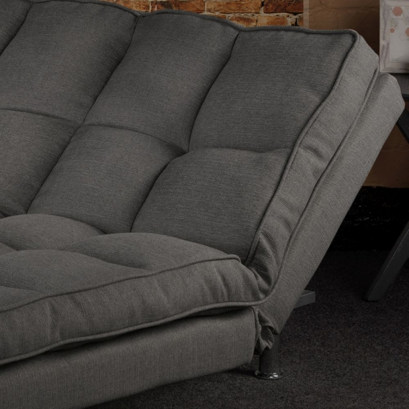 Sweet Dreams Nevada 3 Seater Soft Grey Fabric Sofabed