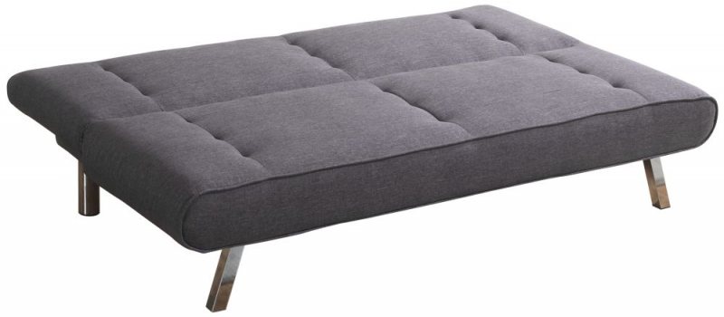Sweet Dreams Norway 3 Seater Soft Grey Fabric Sofabed