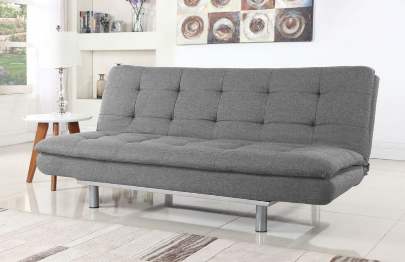 Sweet Dreams Sweden 3 Seater Light Grey Fabric Sofabed