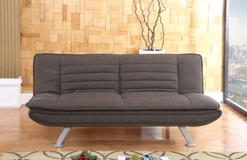 Sweet Dreams Denver 3 Seater Brown Fabric Sofabed